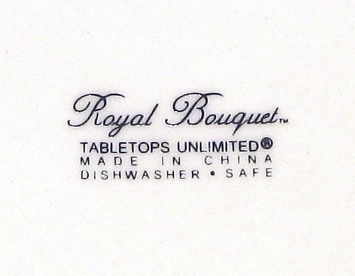 Tabletops Unlimited Royal Bouquet 4 Salad Plates