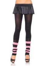 LA7313 (Bk/Pk) Leg Warmer Footless Tights - $10.88