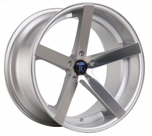 "Primary image for 22"" Rohana Wheel Rc22 22x9.5 22x11 Machine Silver Fits Mercedes Benz Rim 5x112"