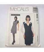 McCall's 8943 Size 8 Misses' Lined Jumper and Blouse - $11.64