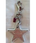 Coach Leather Star Handbag Charm Keychain 8252 Silver Gold Preowned Silv... - $29.00