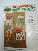 Bucilla Christmas Needlecraft Set 4 Jeweled Holiday Switchplate Covers 8341 - $34.25