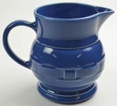 Longaberger Woven Traditions Cornflower Blue 64 Oz Large Milk Pitcher Pottery - $52.99