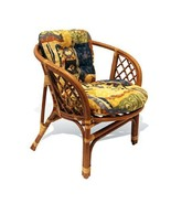 Rattan Wicker Nebo Dining Chair Handmade 3 Colors W/Cushion - $200.00