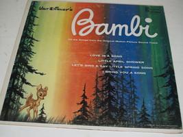 Walt Disney Album - Bambi - 1963 Record-Original Soundtrack - $9.79