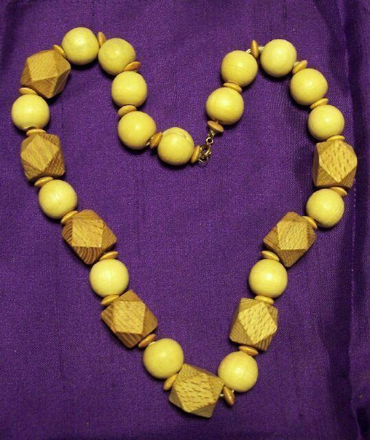 Vintage Wood String of Beads