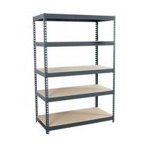 5 Tier Steel Rack Heavy Duty Industrial Shelves Boltless Unit Warehouse Metal - $115.99