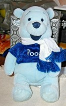 "Disney Store Winter White Pooh w/Scarf 8"" Bean Bag - $12.19"