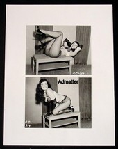 "BETTIE PAGE  8.5""X11"" 2-SIDED PIN-UP POSTER SEXY PHOTO AND MAGAZINE COVE... - $7.84"