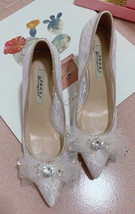 Women Lace Wedding Shoes, Ivory Bridal Low heels Shoes,Lace Bridal shoes - $58.00