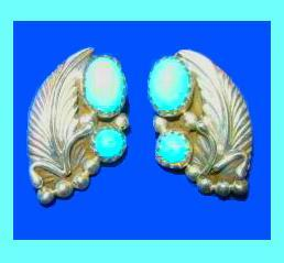 Turquoise ss indian earrings 3