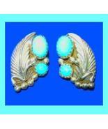 Genuine NAVAJO INDIAN Turquoise & Sterling Silver Earrings - $39.99