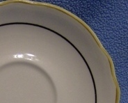 Saucer Homer Laughlin Best China Carolyn Gold Black Rim