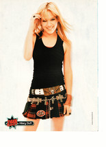 Hilary Duff Avril Lavigne teen magazine pinup clipping black skirt