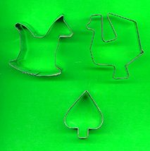Lot of 3 Metal Cookie Cutters ck10  - $3.00