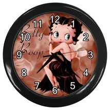 Betty Boop Decorative Wall Clock (Black) Gift modei 30276118 - $18.99