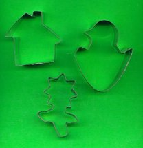 Lot of 3 Metal Cookie Cutters ck9  - $4.00