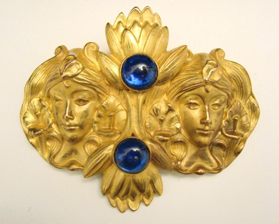 ART NOUVEAU LARGE SASH PIN