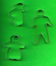 Lot of 3 Metal People Cookie Cutters ck6 - $4.00