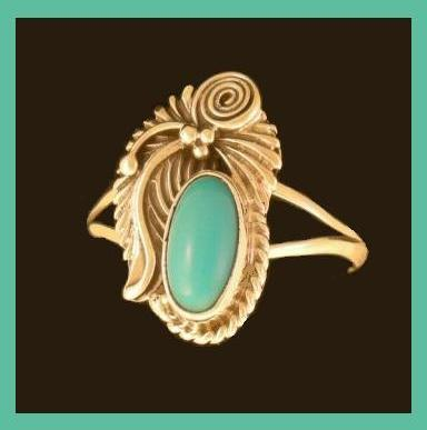 Turquoise indian ss ring 2
