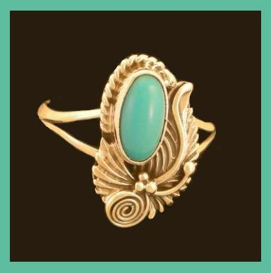 Authentic NAVAJO Indian Turquoise .925 Sterling Silver Ring