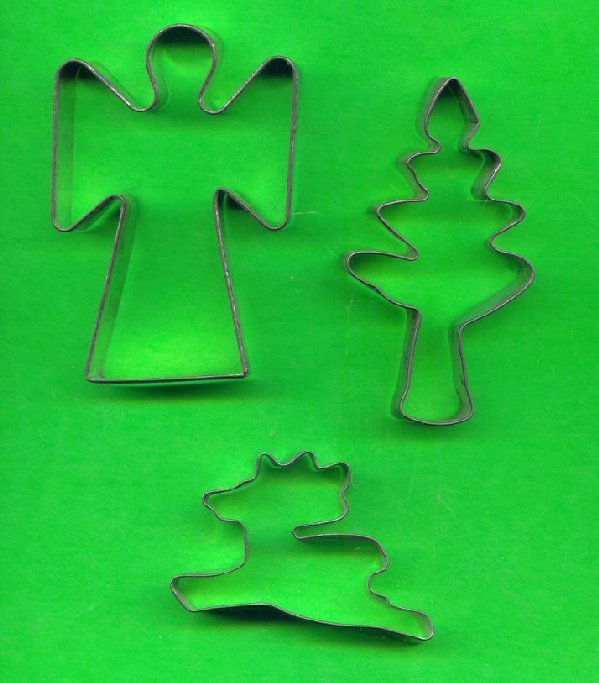 Lot of 3 Metal Cookie Cutters ck4