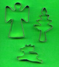 Lot of 3 Metal Cookie Cutters ck4 - $4.00
