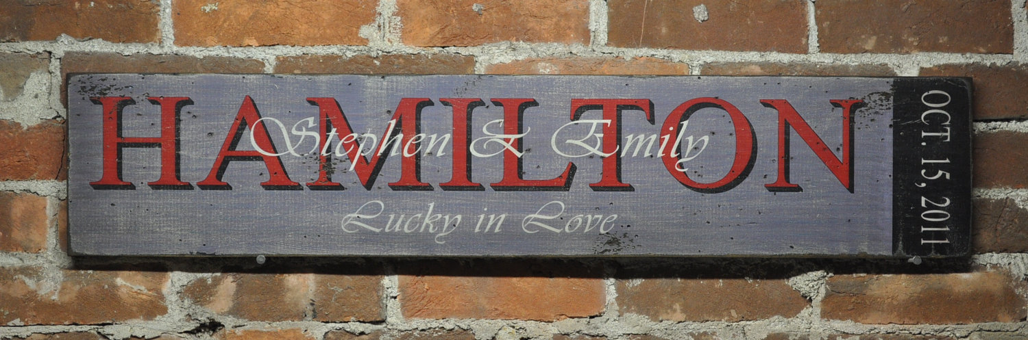 Primary image for Personalized Wedding/Anniversary Sign  - Rustic Hand Made Vintage Wooden Sign WW
