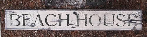 Primary image for Beach House Wood Sign - Rustic Hand Made Vintage Wooden Sign WWS000123