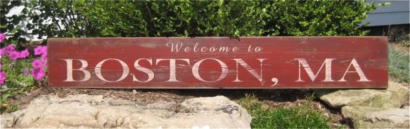 Primary image for Welcome to City, State Wood Sign - Rustic Hand Made Vintage Wooden Sign WWS00012
