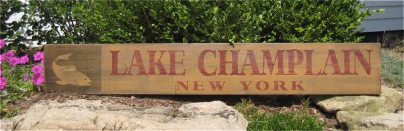 Primary image for Custom Lake, State - Fish Graphic Wood Sign - Rustic Hand Made Vintage Wooden Si