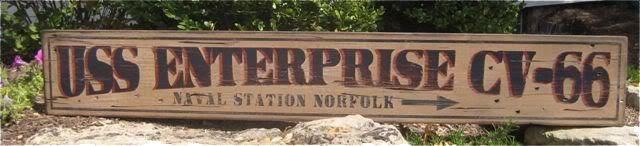 Primary image for Custom Naval Ship & Station Directional Wood Sign - Rustic Hand Made Vintage Woo