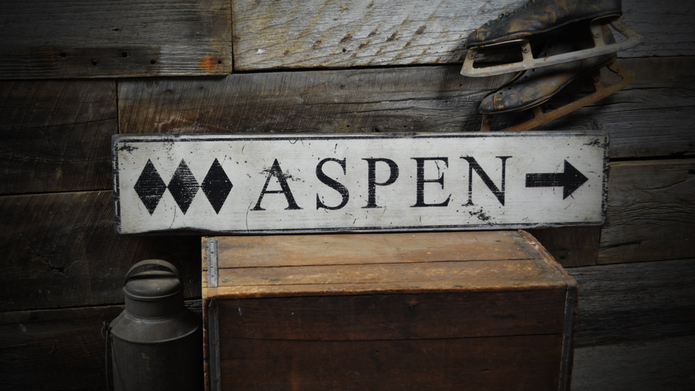Primary image for Triple Diamond Ski Destination Wood Sign - Rustic Hand Made Vintage ENS1000189