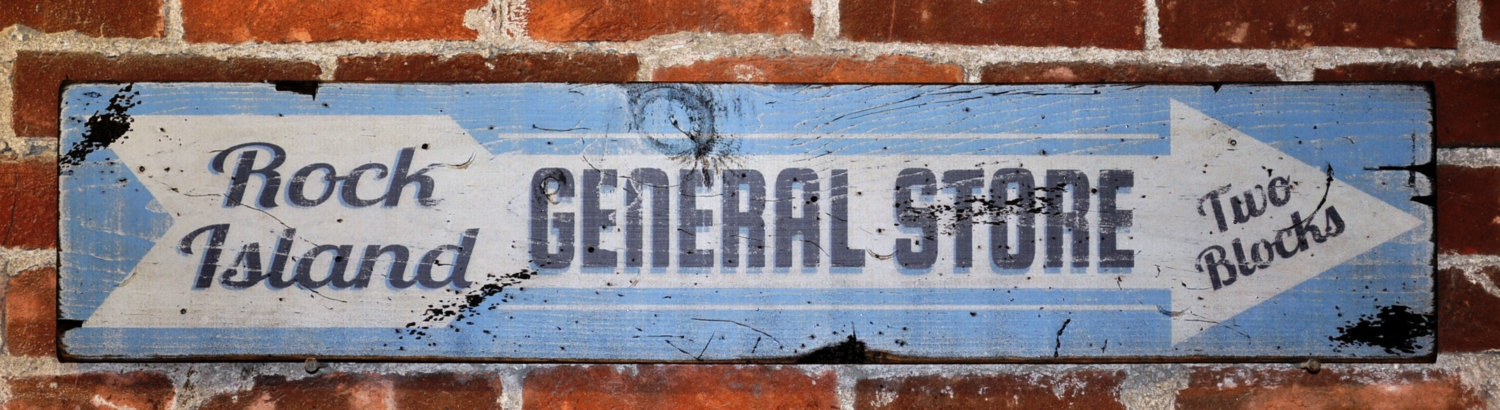 Primary image for Personalized General Store Wood Sign - Rustic Hand Made Vintage Wooden Sign WWS0
