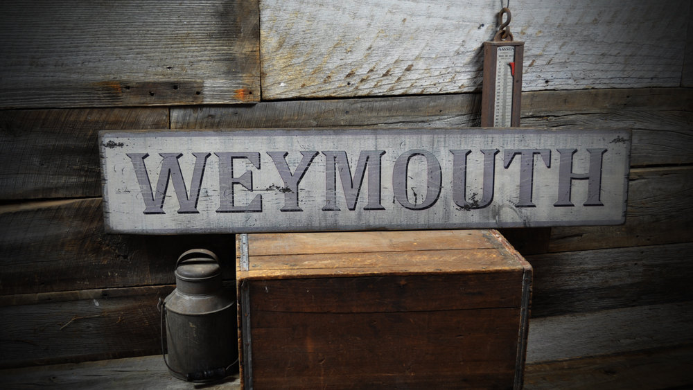Primary image for Custom City, Town Sign  - Rustic Hand Made Vintage Wooden Sign  ENS1000168