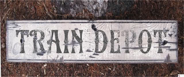 Primary image for Train Depot Wood Sign - Rustic Hand Made Vintage Wooden Sign WWS000233
