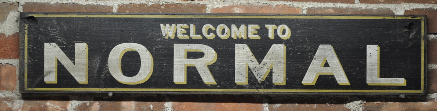 Primary image for Welcome to Normal Sign  - Rustic Hand Made Vintage Wooden Sign WWS000098