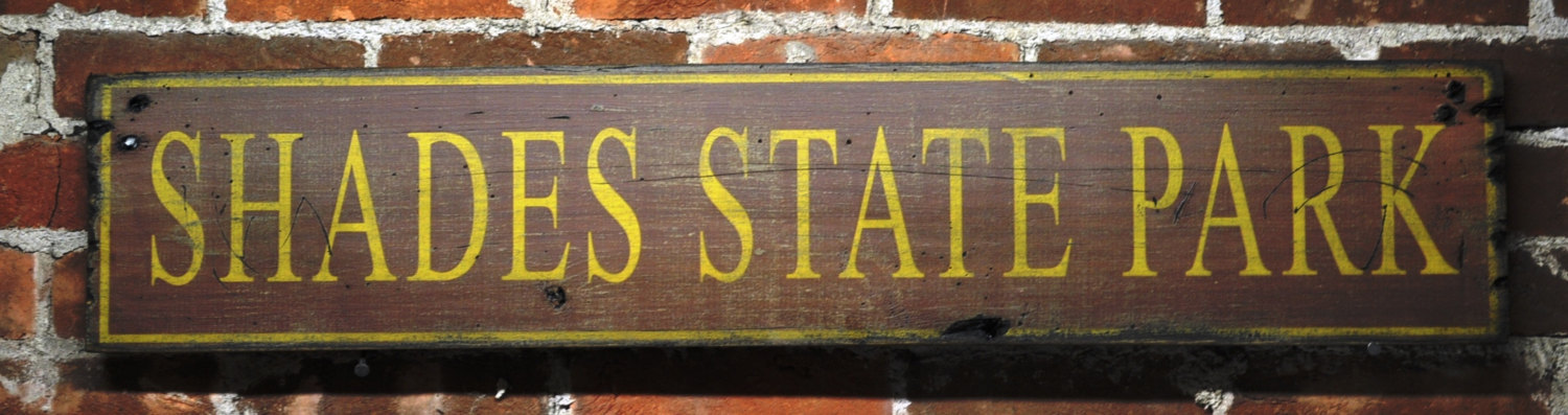 Primary image for State Park Sign  - Rustic Hand Made Vintage Wooden Sign WWS000033