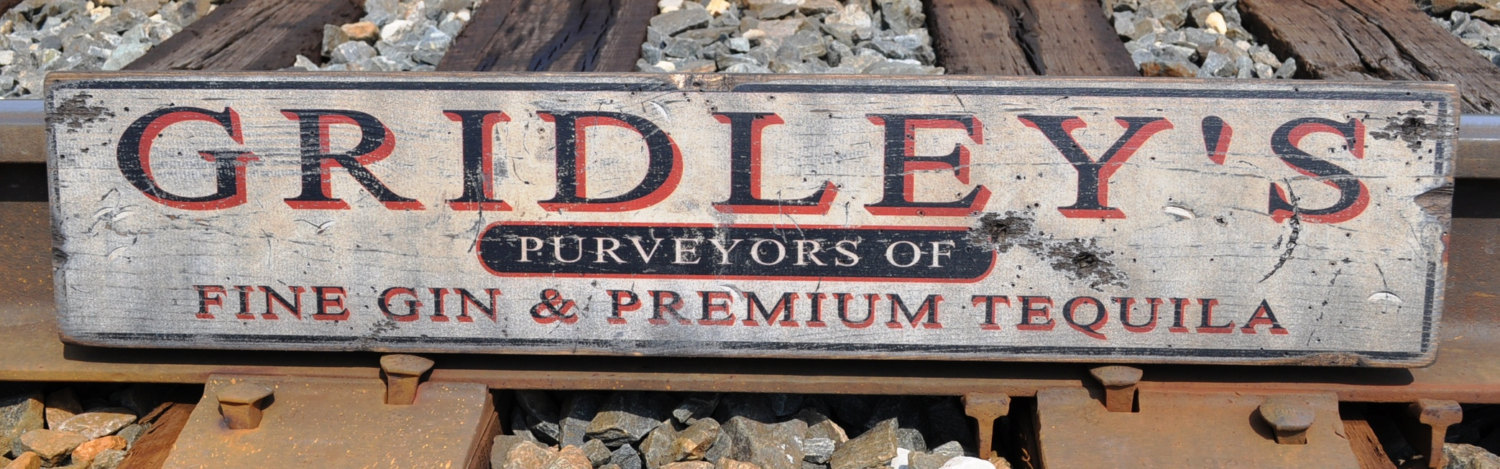 Primary image for Personalized Purveyor Distillery Wood Sign - Rustic Hand Made Vintage Wooden Sig