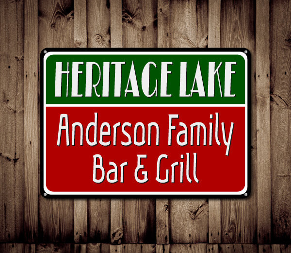 Primary image for Personalized Lake House Bar & Grill Custom Lake Sign Decor  - ENS1000146