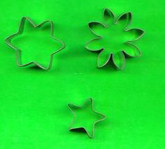 Lot of 3 Metal Cookie or Petti Four Cutters ck2 - $4.00