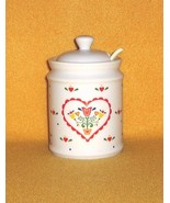 Papel Scandinavian Heart Jam Jelly Condiment Jar with Spoon - $5.99