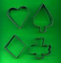 Lot of 4 Old Vintage Card Metal Cookie Cutters ck12 - $5.00