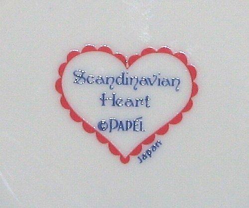 Papel Scandinavian Heart Jam Jelly Condiment Jar with Spoon