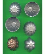 Small Aluminum  and Copper Jello Molds ck15 - $8.00