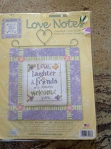 "Dimensions Counted Cross Stitch Kit ""Love, Laughter Friends are Welcome ... - $29.69"