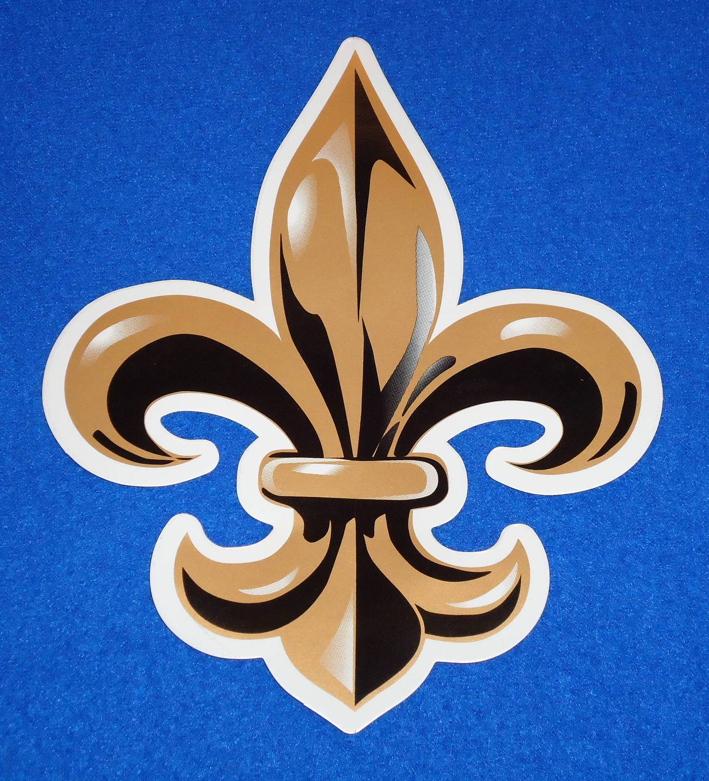 Primary image for AWESOME NEW ORLEANS SAINTS FLEUR DE LIS STICKER BLACK AND GOLD NFL TEAM LOGO