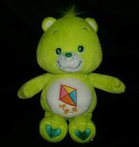 "10"" CARE BEARS DO YOUR BEST BEAR STUFFED ANIMAL PLUSH LIME GREEN KITE TO... - $14.03"
