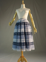 Multi-Color Tiered Tulle Skirt Layered Tulle Midi Skirt Custom Any Size image 8