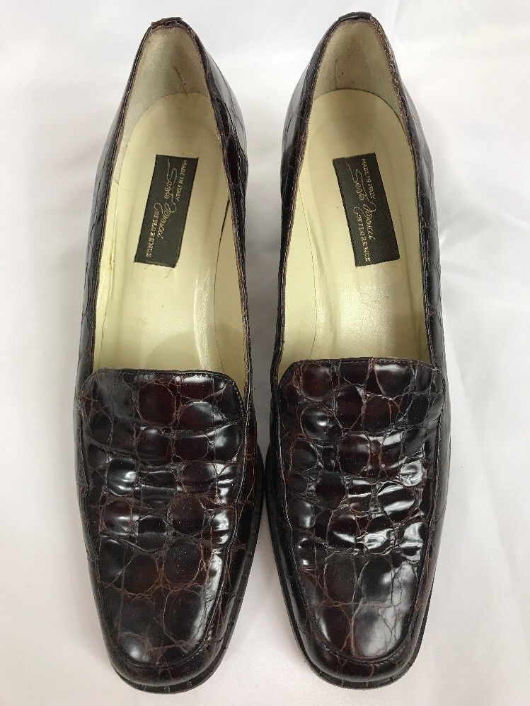 d0691cf6396 Sesto Meucci Women Croc Embossed Shoes Size and similar items. S l1600